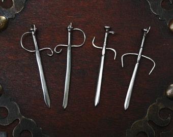 Sword pendant, medieval necklace, medieval jewelry, larp accessories, celtic pendant, viking jewelry, excalibur pendant, pirate sword