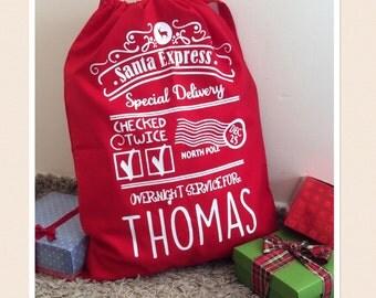 Large Red Personalised Santa Sack