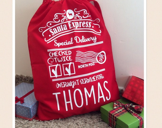 Featured listing image: Large Red Personalised Santa Sack