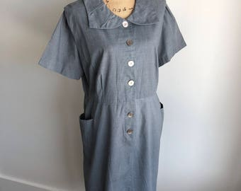 Vintage 1950s 1960s Berkshire Day Dress - Union Made