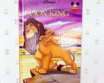 1994 Disney's The Lion King Hardcover Book | Lion King Classic Disney Book | Disney Story Book | Disneys Lion King Movie | Childrens Books
