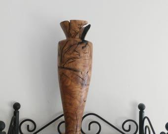vases,vase,rustic decor vase,flower vase,wood turning vase,reclaimed wood vase,modern vase,interior design,home living vase, tall vase