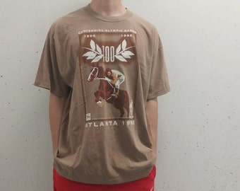 1996 Champion Atlanta Olympics T-Shirt Vintage Champion Shirt 90s Olympics Atlanta 96