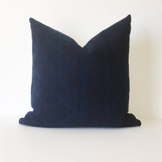 20 x 20 Almost Solid Dark Indigo Navy Pillow Cover
