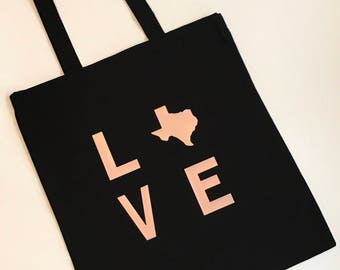 Love Texas Tote | Custom Tote Bag