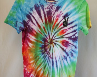Size 14 - Ready To Ship - Unisex - Children - Kids - Tie Dyed T-shirt - Tee's - 100% Cotton - FREE SHIPPING within Aus