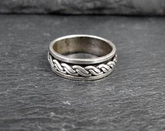 Sterling Silver Spinner Ring - Size 6.25 - Vintage