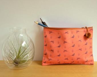 Printed Pheasants pouch