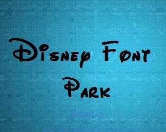 Disney Font Park 1'', 1.5 '' Alphabet  Machine Embroidery  Letters - Instant Download