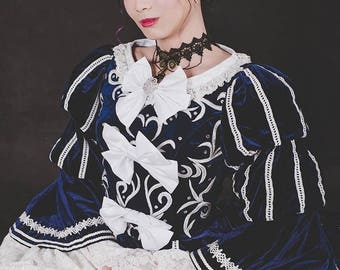 Clearance 2nd Hand Marie Antoinette Dress with hoop skirt, Takarazuka Revue Stage Version