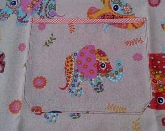 little elephants apron, bike apron, kids apron, waterproof apron, handmade, handcrafted, customized gift, Leisec creations
