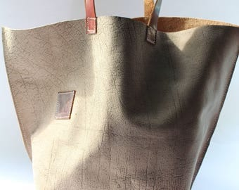 brown leather tote - leather bag women - leather tote bag - natural leather bag - tote bag - laptop bag - leather tote - Yoga bag - shopper