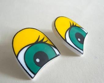 Plastic Cartoon Safety Eyes 40 mm, Pair Large Toy Eyes, Doll Eyes Craft