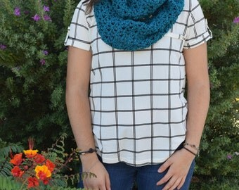 Teal Valerie Infinity Scarf | Infinity Scarf| Circle Scarf| Winter Wear|Snood| Gift for Her| Ladies Fashion |Womens Scarves|Long scarf