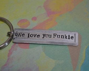 Personalized Keychain, Custom Keychain, Metal Stamped Keychain, Handstamped Keychain, Personalized Teacher Gift, Personalized Graduation.