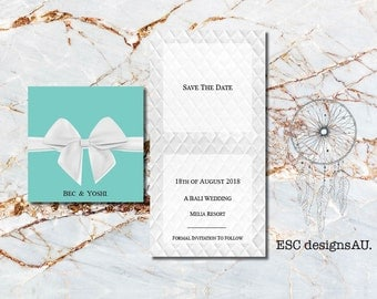 Tiffany Box Save the Date | Ring Box