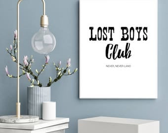 Lost Boys Club, Peter Pan, Disney Inspired Print - A4