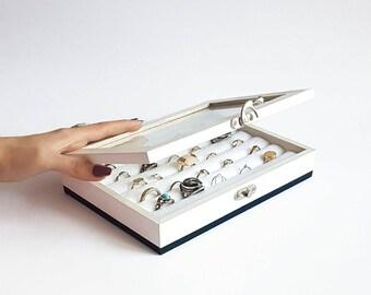 Jewelry Organizer, Ring Holder, Jewelry Display, Jewellery Box, Jewelry Box, Jewellery organizer, Ring Display, Keepsake Box, Cufflink Box
