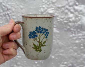 Hydrangea Stoneware Mug
