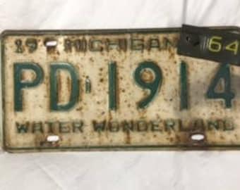 "Vintage ""1964"" Michigan License Plate"