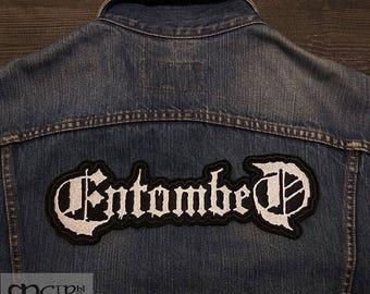 Big Back  Patch Entombed Death Metal logo Band.