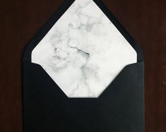 Lined Envelopes Marble Liners Wedding