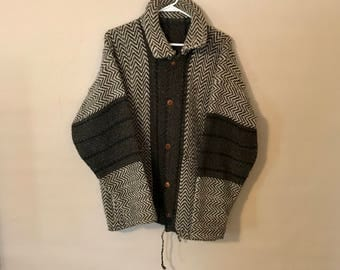 Vintage wool chevron cardigan
