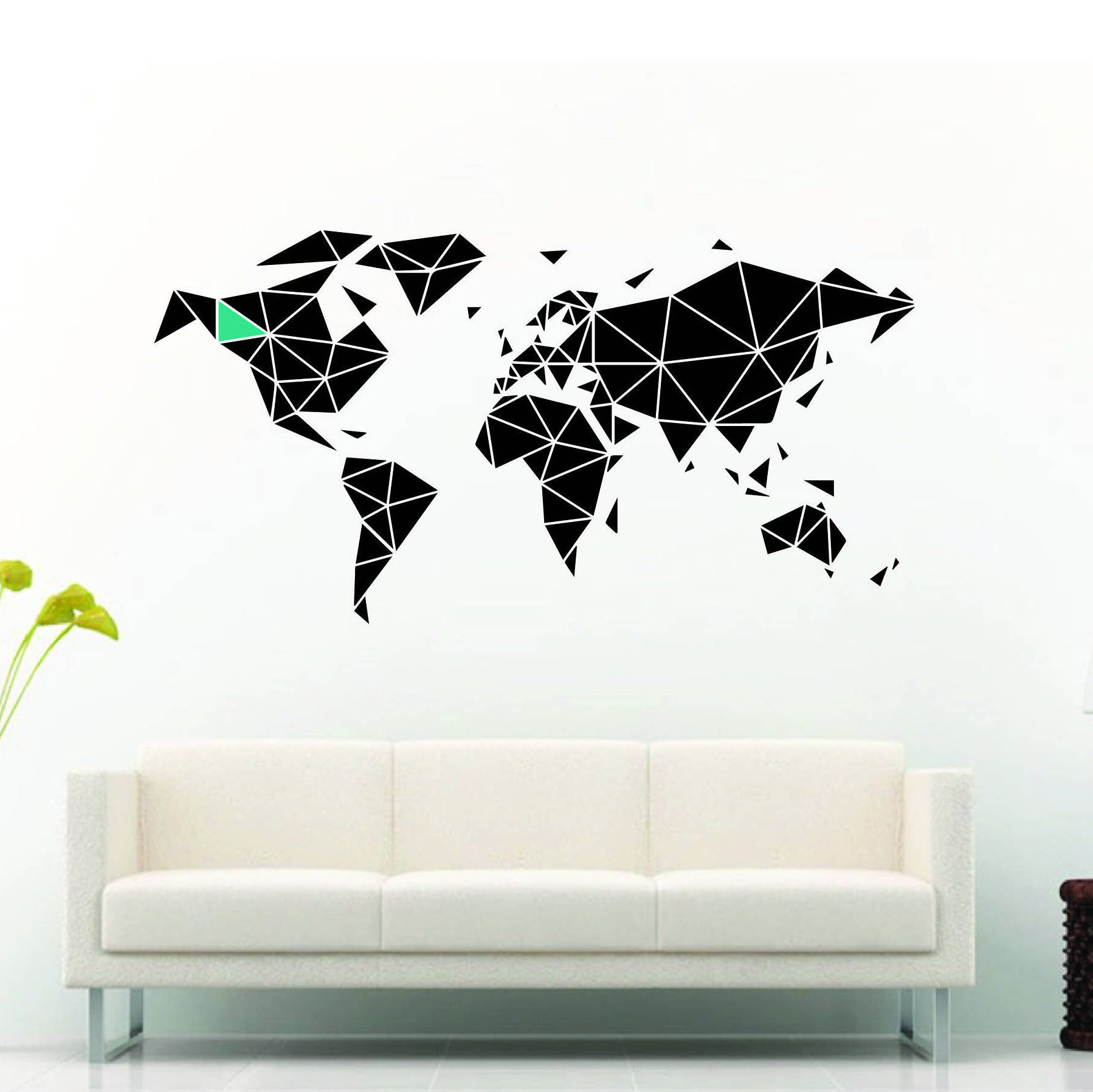 Geometric world map wall decal sticker gumiabroncs Gallery