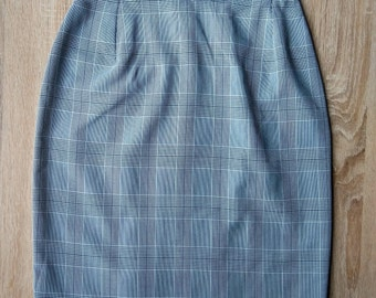 Tartan pencil skirt - grey