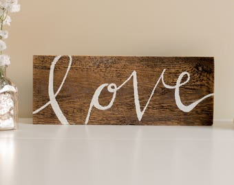 Love Sign Wood Sign | Home Decor
