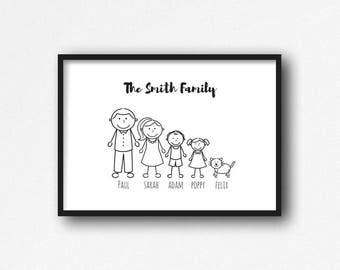 Personalised Family Print