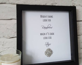 Glamorous box frame with sparkly crystal embellishment. Chic dressing room decor - perfect for stylish homes or a gorgeous gift idea