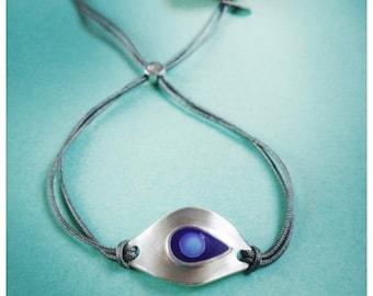 Amulet silver eye bracelet