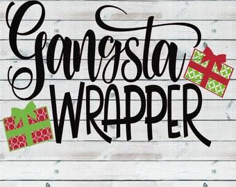 Gangsta Wrapper, Christmas Svg,Dxf,Png,Jpeg
