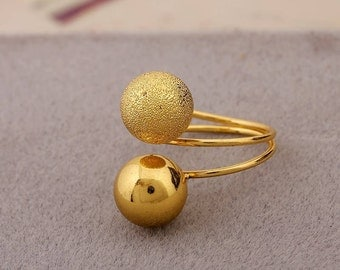 Minimalist Double Ball Ring