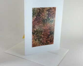 Maple tapestry no. 10 blank card, individually handmade: notecards, fine cards, fall, autumn, SKU BLA71010