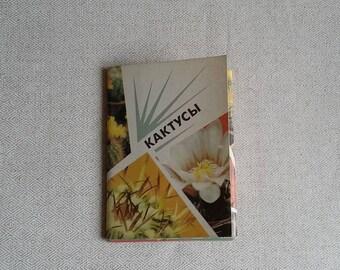 Succulents Postcard Flower Lovers Unused Postcards Set For Botany Lovers Succulents Decor USSR Postcards Art Lover Gift Soviet Postcards