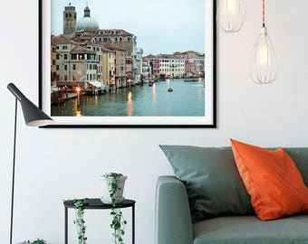 Venice Italy Travel Photography Print - Venice Canal - Teal Wall Art - Venice Photography