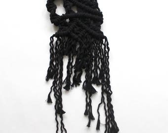 Black Asymmetric Macramé