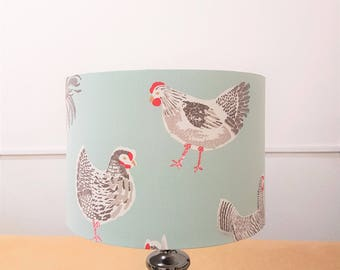"""New Handmade """"Rooster"""" Lamp Shade 30cm dia x 21cm high"""