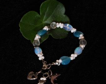 Charm Bracelet White/Blue