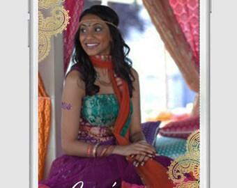 Mehndi Snapchat Geofilter, Mehendi, Henna, Sangeet, Indian Desi Wedding , Indian wedding