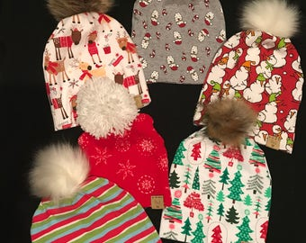 Pom hats for the holidays