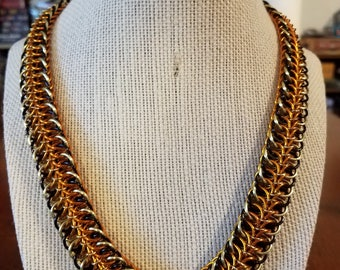 Reversible Chainmail Necklace