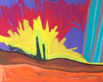 Original, colourful, abstract, intuitive, painting/drawing