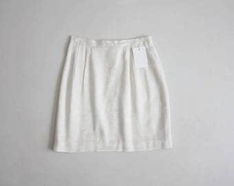 white mini skirt | 90s skirt | white floral skirt