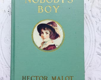 Antique Illustrated Book Nobody's Boy (Sans Famille) by Hector Malot  1916 Free US Shipping Cupples & Leon Hardback Classic French Story