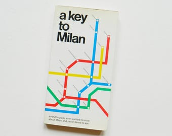 1980s Italian Travel Guide / Vintage Travel Books / Design Helvetica Font Typography / Coffee Table Book / Italy Travel Guide