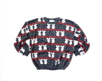 Koala Bear Sweater Kawaii Novelty Print Jumper Aussie Australia Shirt Top 1980s Knit Cute Fairy Kei 90s Pastel Goth Pullover Small Medium