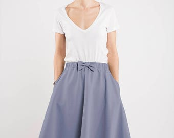 Summer skirt | Party skirt | Light blue skirt | LeMuse summer skirt